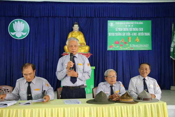 Ban Hướng dẫn PB GĐPT Đà Nẵng trao chứng chỉ trúng cách huynh trưởng