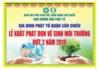 GĐPT quận Liên Chiểu Đà Nẵng tổ chức công tác vệ sinh môi trường
